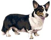 Cardigan Welsh Corgi Dog Custom Designed Counted Cross Stitch Pattern