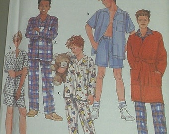 Easy Teen Boy Pajamas Sleepwear Robe 12 14 16 Simplicity 8794