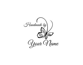 Handle Mounted or Cling Personalized Name custom made rubber stamps C09 scrapbook