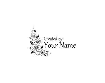 Handle Mounted or Cling Personalized Name custom made rubber stamps C59