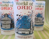 SALE: Vintage Ohio Souvenir Glasses / The Wonderful World of Ohio