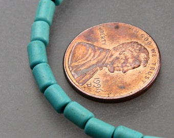 16 inch Howlite Turquoise Tube Cylinder Spacer Beads 3.6x5.4mm - about 74pcs