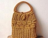 Vintage Macramé Handbag