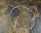 Handcrafted Sterling Silver Triple-Strand Snake Chain