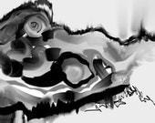 Digital painting image--- instant download--- abstract expressionist  Black and White by DylanD