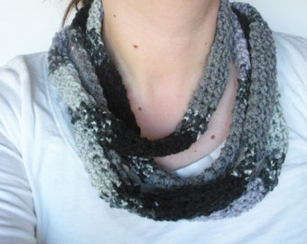 Extra Long Wrap Scraf, crochet tube scarf,  infinity rope scarf, ready to ship.