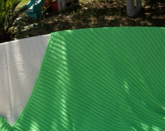 A-1305 Lime Green Afghan