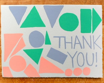 Thank You Shapes blank greeting card