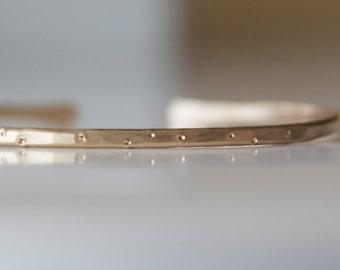 Gold Cuff Bracelet in Shimmer Texture Stacking Bracelet