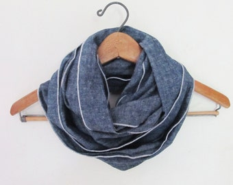 Hemp Organic Cotton Infinity Scarf - Lightweight - Great Gift