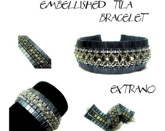 TUTORIAL - Tila Bracelet - EMBELLISHED TILA - immediate download