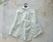 White Raincoat, Retro Waterproof Rain Jacket, Bridal Unisex Rain Cape