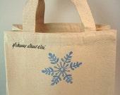 SALE! - Snowflake - Recycled Cotton Mini Tote