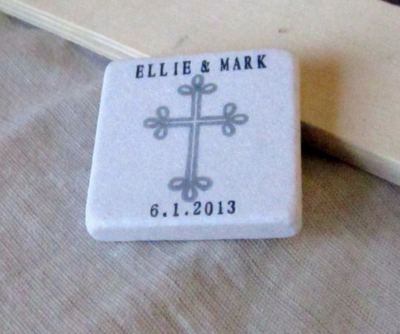 Cross Wedding Favor Magnets, Save the Date Magnets,Set of 25