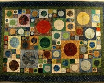Modern Art Deco Batik Quilt