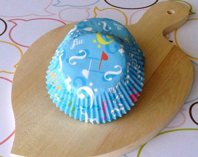 SALE - Music Notes Standard Cupcake Liners