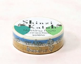 Shinzi Katoh Masking Tape - Thank You Bear