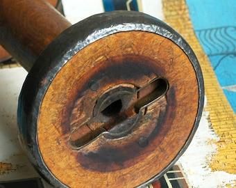 HUGE vintage industrial spool... Laf