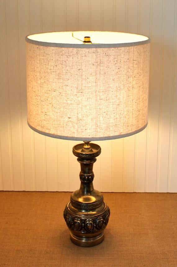 drum lamp shade lampshade mid century vintage au by sassyshades. Black Bedroom Furniture Sets. Home Design Ideas