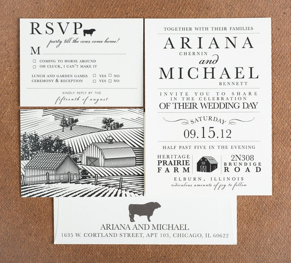 Wedding Invitation Party Till The Cows Come Home Wedding Collection Rustic