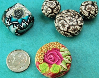 FREE SHIPPING OFFER Polymer clay focal beads set