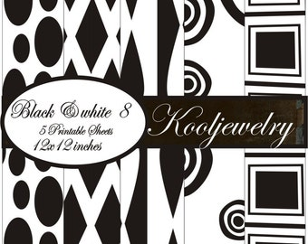 Black and white 8 Paper Pack - No. 98