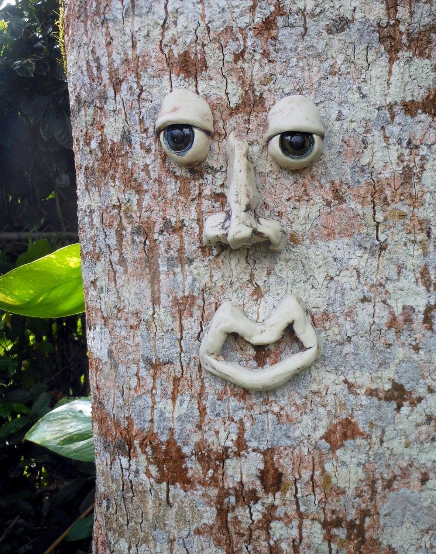 Stoneware Tree Face Garden Decor By Uturn On Etsy