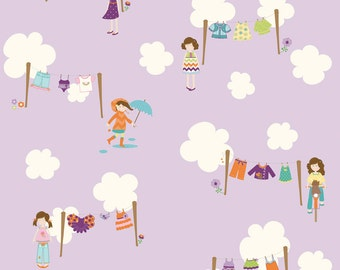 Riley Blake Designs Dress Up Day Grape Main fabric by Doohikey Designs