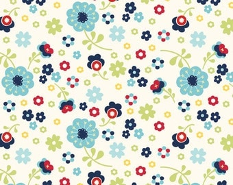 Riley Blake Designs Dress Up Day Blue Floral by Doohikey Designs