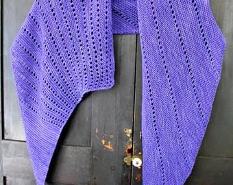 Dot To Dot Scarf Shawl Wrap Garter Stitch Knitting Pattern