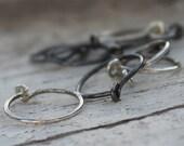 "Sterling Silver Earrings Small Hoops Item #400101 - ""Tiny Hoops"""