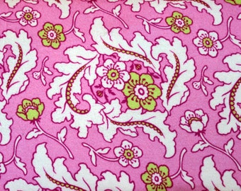 Flannel, Pink, Lime, Green, Freshcut, Pinky, Purple, Finery, Heather, Bailey, FreeSpirit, Fabric, Baby, Girl, Floral, Beautiful, 1 yard