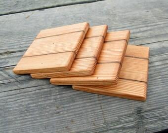 Reclaimed Wood Coasters - Barn wood Coaster Set -  Country Home Decor
