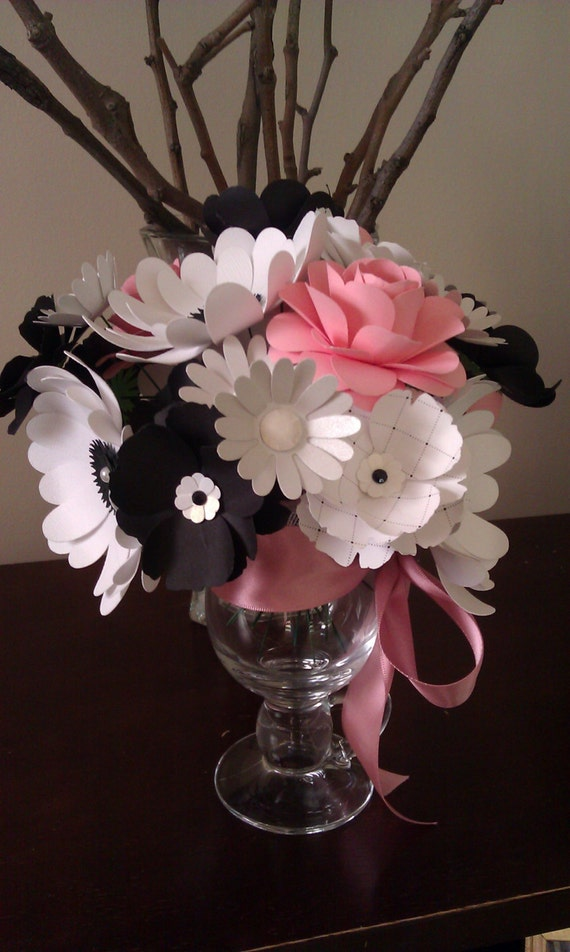 Paper Flowers in a Cappucino Vase
