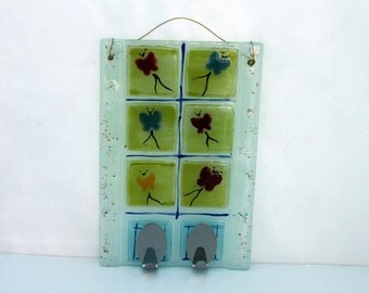 Wall  Hanging - Fused glass Butterflies Ornament wall decor  by Virtulyglass