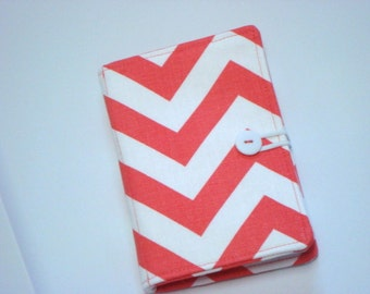 Honey Do List - Grocery List Taker- Comes with Note Pad and Pen - Chevron -Zig Zag - Coral