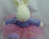 Knitted Bunny, Ballerina Bunny, Rabbit, Bunny Softie, Amigurumi Bunny, Bunny