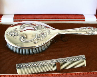Sterling Silver Brush and comb