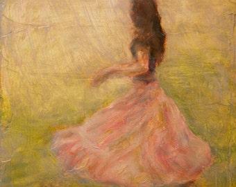 She Dances with the Rain, Fine Art Print of Original Oil Painting
