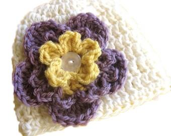 Convertible Baby Flower Hat PDF Crochet Pattern