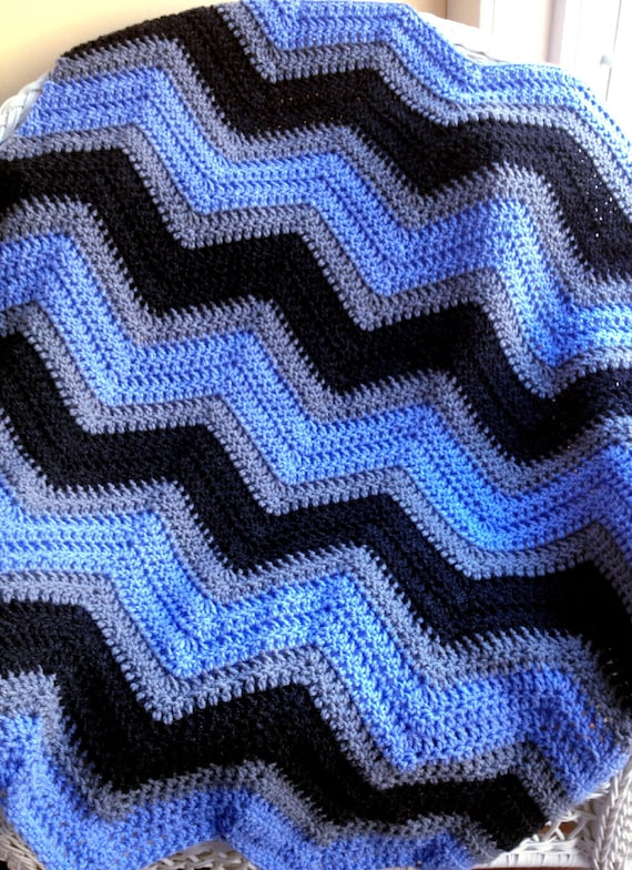 Chevron Zig Zag Baby Blanket Afghan Wrap Crochet Knit Photo