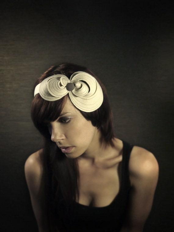 Cream Felt Headband - Made to Order