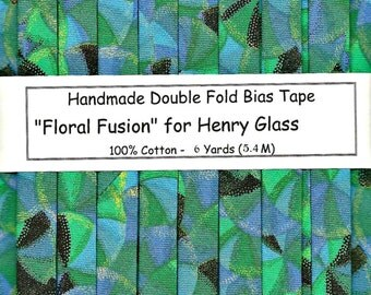"""Handmade Double Fold Bias Tape """"Floral Fusion"""" - 6 Yards Package or 1 Yard Sample"""