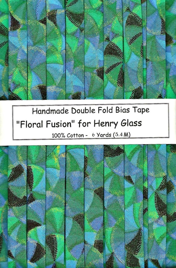 "6 Yards Handmade Double Fold Bias Tape ""Floral Fusion"""
