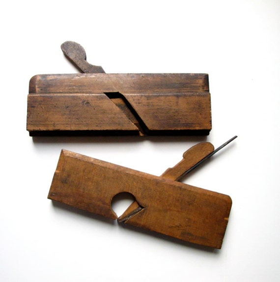 Antique Carpentry Tools Woodworking Wood Plane Marples and
