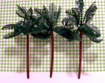 6 Large Palm Cupcake Toppers