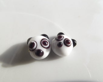 2 PCS  11mm Handmade Lampwork glass beads