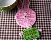 Easter Bunny - Crochet Coaster - Bunny Coaster - Easter Rabbit - Rabbit Coaster - Crochet Rabbit - Easter Table Decor -  Easter Home Decor