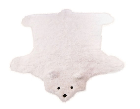 Beary Rug - The Faux Shaggy Long Pile Flokati Bearskin Shag Rug - White or Custom Choose A Color - 3 Sizes