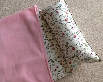 Nap Mat. Girls, Personalized free,  Great for Daycare, Preschool or Kindergarten. Playful bugs.
